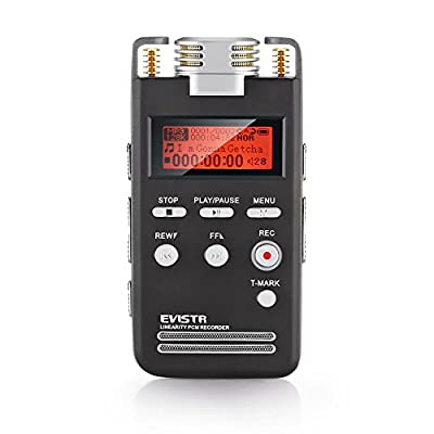 EVISTR L53 Portable Digital Voice Recorder 1536K High Quality PCM Recording Device with Voice Activated and Noise Reduction Function from EVISTR