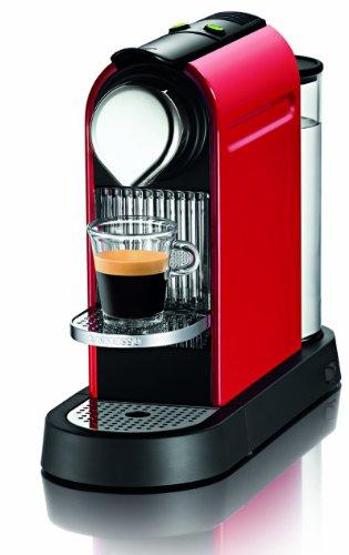Nespresso Citiz C110-us-re Household Espresso Coffee Maker, Fire Engine Red with 16 Startup Coffee Sampler