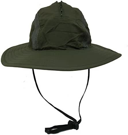 Unisex Outdoor Sun Bucket Boonie hat with Durable Mesh Lining and Hidden Stowable Neck Flap - 50 UPF-UV Sun Protection