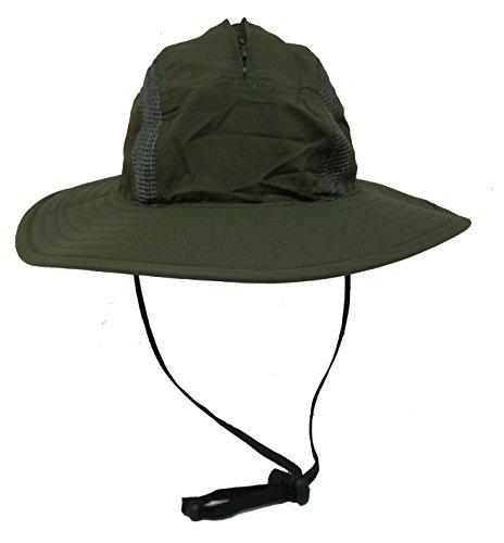 Unisex Outdoor Sun Bucket Boonie hat With Durable Mesh Lining and Hidden Stowable Neck Flap - 50 UPF-UV Sun Protection (Jungle (Burgundy Felt Bonnet)