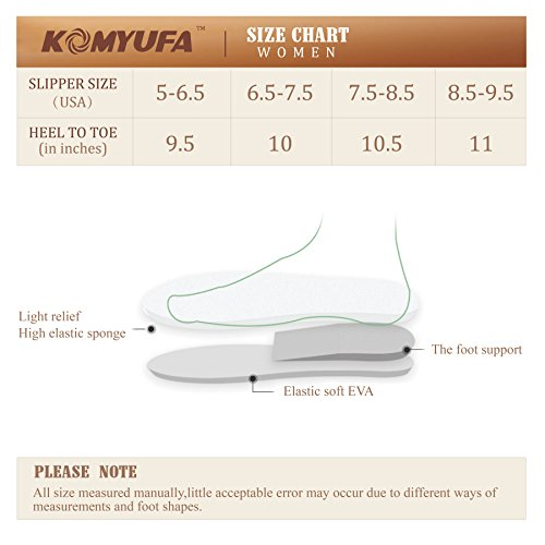 Komyufa Fur Slipper and House Winter Pink Lightweight Flop Memory Soft Outdoor Indoor Flip Slipper Women Foam rASqwr