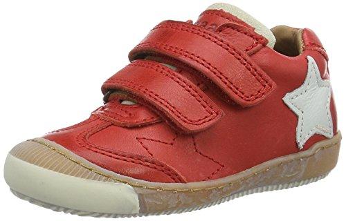 Bisgaard Klettschuhe - Zapatilla Baja Unisex Niños Rot (901 Red)