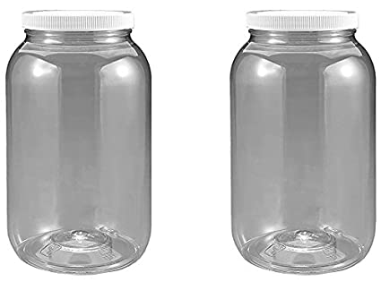04b458587b5 Image Unavailable. Image not available for. Color  1 Gallon Plastic Jar 2  Pack Wide Mouth ...