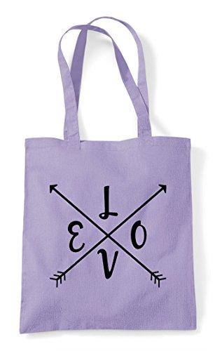 Tote Love Arrows Bag Shopper Crossed Statement Split Lavender wCpq6CT