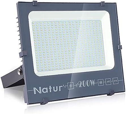 200W Foco LED, bapro Focos Led Exterior, 20000LM Foco Proyector LED, Luz Exterior IP66 Impermeable 6000K Blanco Frío Lampara para Seguridad, Jardín, Garaje, Patio [Clase de eficiencia energética A++]: Amazon.es: Iluminación