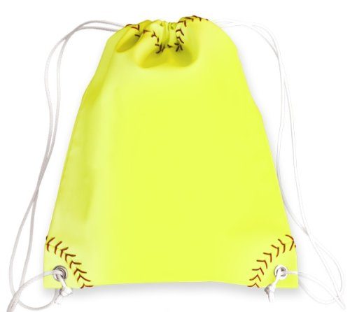 Zumer Sport Drawstring Bag, Softball Yellow, One Size ()
