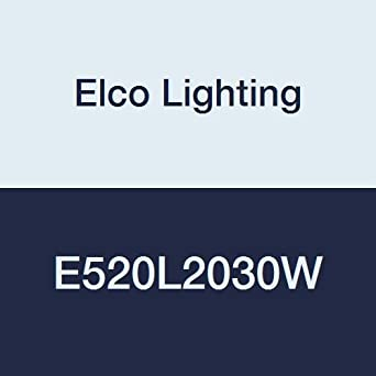6 Length Elco Lighting E520L2030W 5 LED Light Engine with Reflector Trim White 6 Width 2 Height 26W