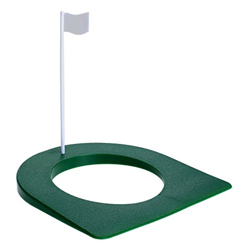 (MUXSAM 1Pc Golf Putting Green Regulation Cup Hole Flag Indoor Practice Training Aids)