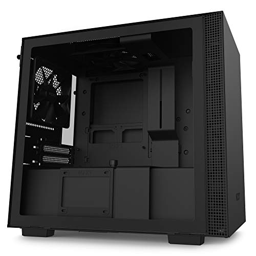 NZXT H210 - Mini-ITX PC Gaming Case - Front I/O USB Type-C Port - Tempered Glass Side Panel - Cable Management System - Water-Cooling Ready - Radiator Bracket - Steel Construction - Black