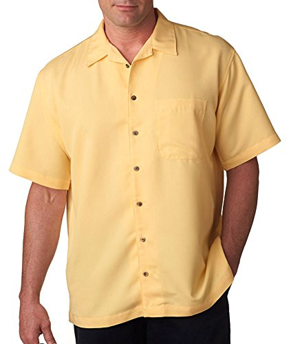 Cabana Banana Collection - Ultraclub Men's Cabana Breeze Camp Shirt, Banana, XXXX-Large