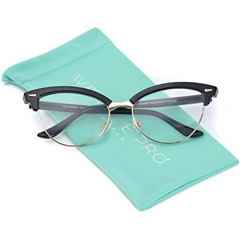 09bb228fd0 WearMe Pro - New Semi-Rimless Retro Cat Eye Fake Glasses low-cost ...
