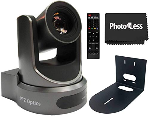 PTZOptics 20x USB Gen 2 1920 x 1080p Resolution Live Streaming Camera HuddleCamHD HCM 1 Small Universal wall mount bracket