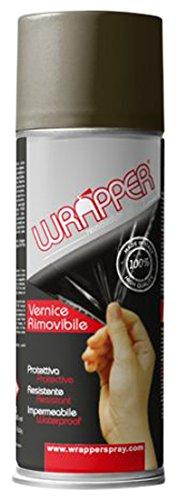 Quattroerre 16442 Wrapper Spray Vernici Rimovibili Tinta Camouflage, Verde Quattroerre Italia