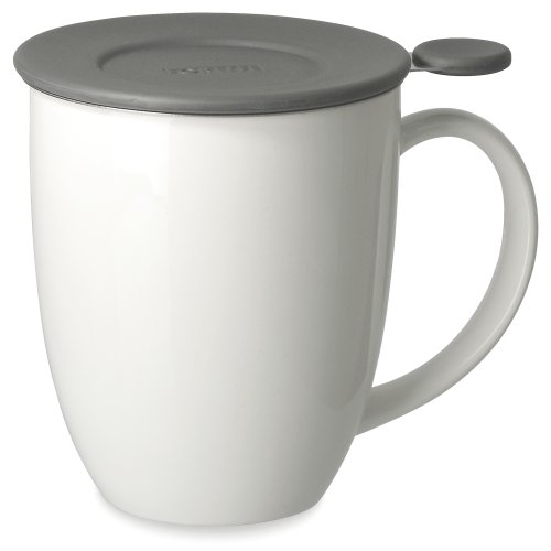 White 16 Ounce Mug (FORLIFE Uni Brew-in-Mug with Tea Infuser and Lid, 16-Ounce, White)