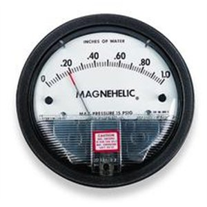 Dwyer 2020 Magnehelic Differential Pressure Gauge, Type, 0 to 20