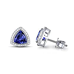 Diamond Tanzanite Drop Earrings
