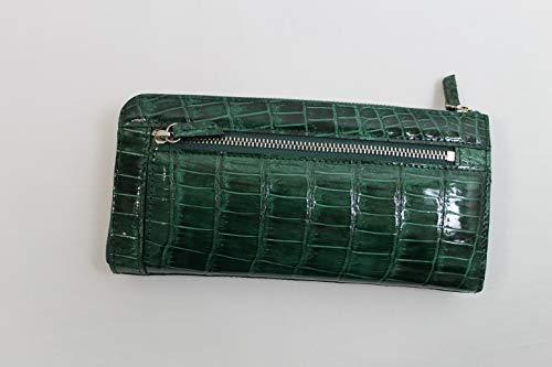 8be0404e2f77 Amazon | クロコダイル 長財布 メンズ レディース シャイニング L字ファスナー クロコダイル 財布 ヘンローン社製 グリーン | 財布