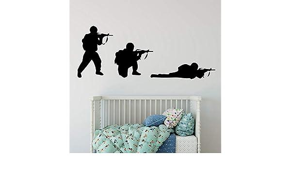 Enfriar Soldado Militar del ejército Etiqueta de la Pared Pistola ...