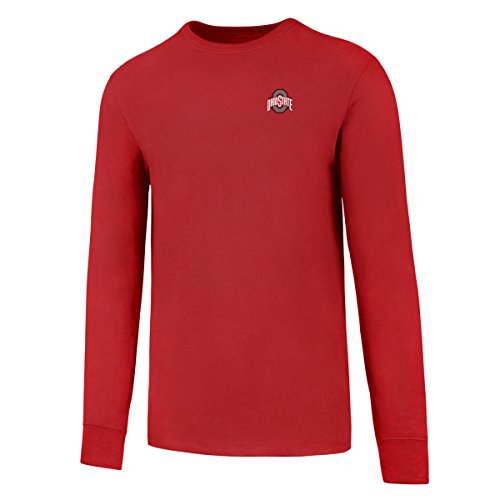 NCAA Ohio State Buckeyes Men's OTS Rival Long Sleeve LCCB Tee, Red, XX-Large