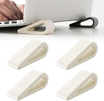 4 soportes para ordenador portátil, soporte universal para teclado, ventilación y disipación de calor, refrigerador portátil, de silicona ...