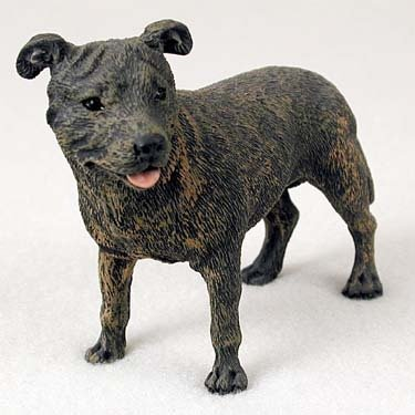 Staffordshire Bull Terrier Brindle Standard Figurine