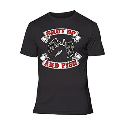 Fresh Tees® Shut Up and Fish Funny Fishing Shirts