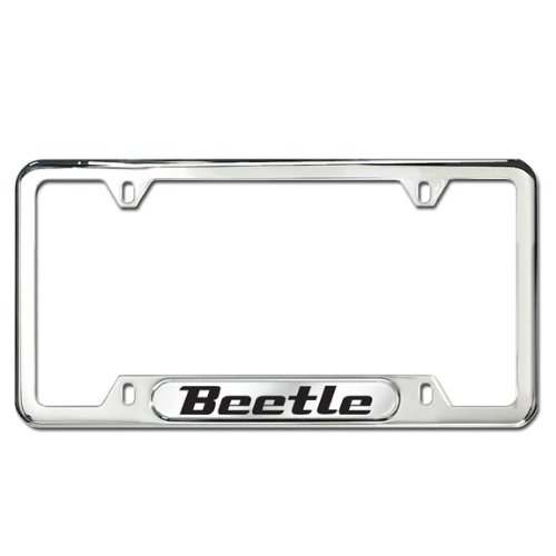Genuine OEM Volkswagen Beetle Polished Stainless Steel License Plate ()