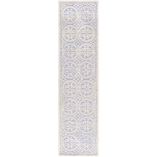 Safavieh Cambridge Collection CAM123C Handmade Moroccan Geometric Lavender and Ivory Premium Wool Runner (2'6 x 6′)