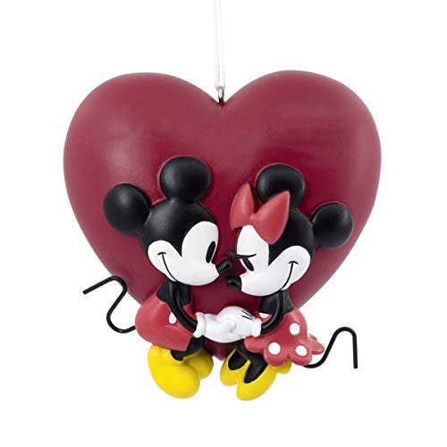 Disney Mickey Mouse & Minnie Mouse Couple Love Christmas Ornament -