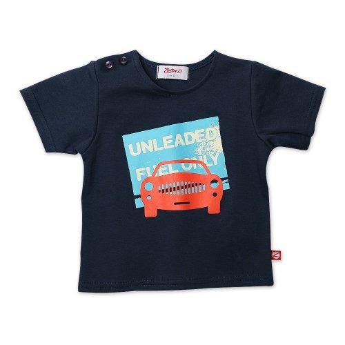 (Zutano Infant Baby-Boys Piccadilly Cars Short Sleeve Screen T-Shirt, Navy, 6)