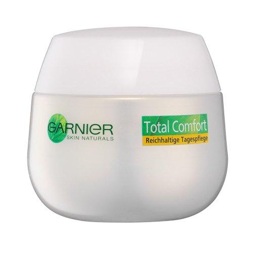Garnier Skin Naturals Total Comfort Reichhaltige Tagespflege - Gesichtscreme für Damen mit Akazienhonig für trockene und sensible Haut, 1 x 50 ml