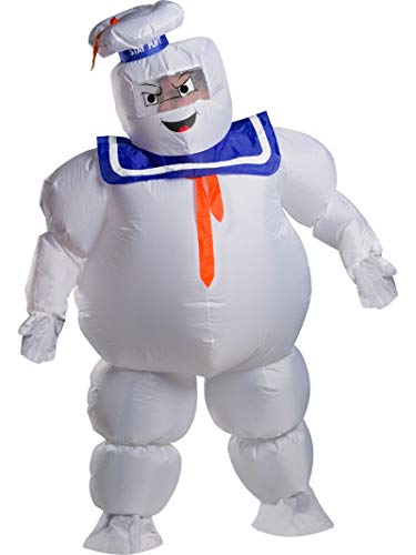 Ghostbusters Halloween Costumes Adults (Rubie's Unisex Ghostbusters Adult Stay Puft Inflatable Costume, As Shown, One)