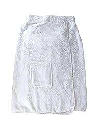 Womens 100% Cotton Terry Cloth Spa Bath Robe Towel Wrap Dress with Pocket