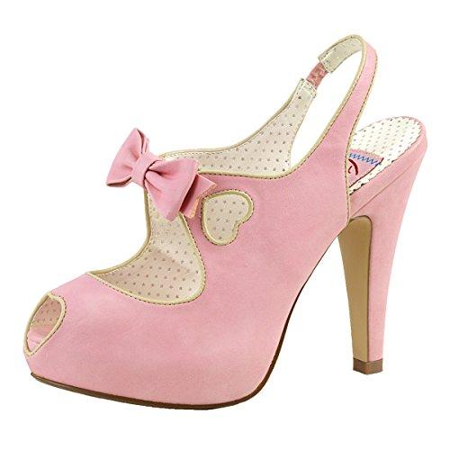 Heels-Perfect - Pantuflas de caña alta Mujer Rosa (Pink)