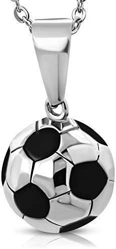 UrbanBijoux Colgante de Hombre Balón Fútbol Fútbol Acero ...