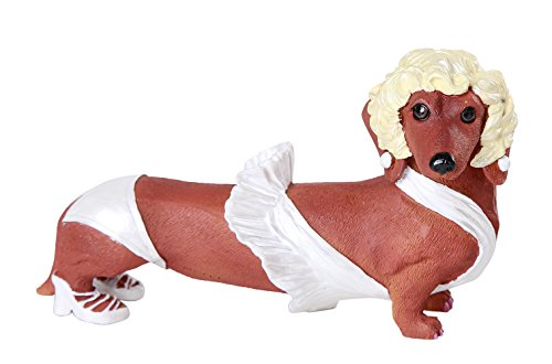 Sexy Marilyn Superstar Doxy Collection Cute Daschund Weiner Dog Collectible
