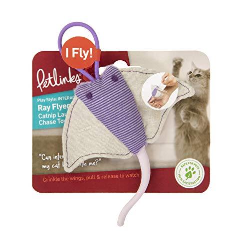 (Petlinks Ray Flyer Stingray Launcher Catnip Cat Toy )
