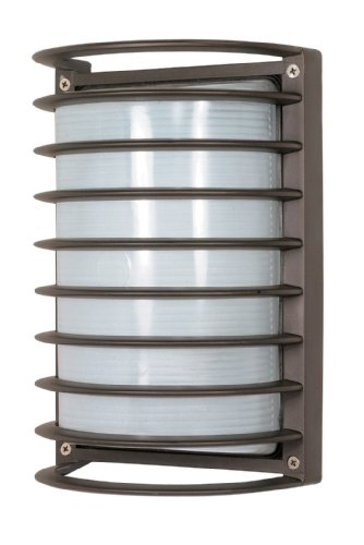 Nuvo Lighting 60/533  Bulkhead 1-Light Rectangle Cage 60W A19, Architectual (1 Light Bulkhead)