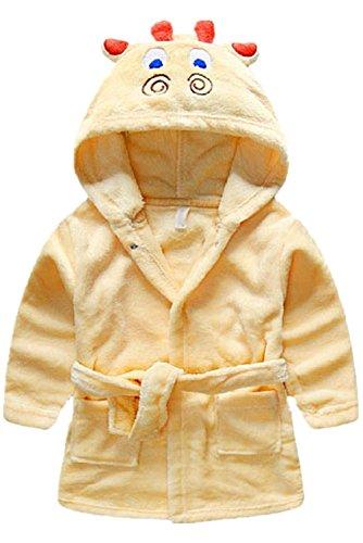 Toddler/kids Hooded Plush Robe Animal Fleece Bathrobe Children Pajamas Sleepwear (9 - 18 Month, - Little Giraffe Robe