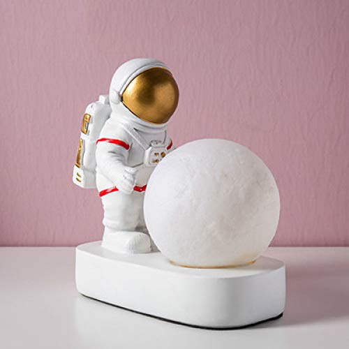 ZGPTX Home Decorations Ornament Figurines Gift Creative Resin People Model Table Lamp Room Home Decoration Accessories Modern Astronaut