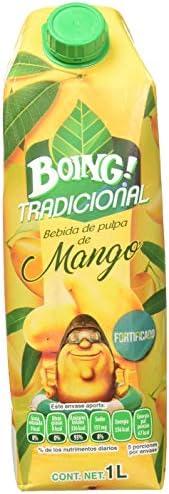 Boing Boing Jugo sabor Mango de 1 Lt *, Mango, 1000 mililitros