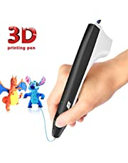 3D Pen,3D Printing Pen Competable with PLA & ABS Filaments with Speed and Temperature Adjustable,Non-Toxic-Won't Clog Design,Coming with Shovel and Stencil as Bonus,3 Models for Your Options