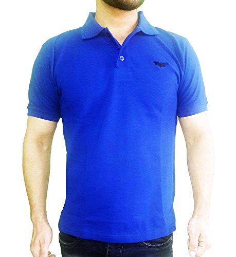 4844364aa Gavino Posh Batman Men's Polo Neck Blue T-Shirt-M: Amazon.in ...