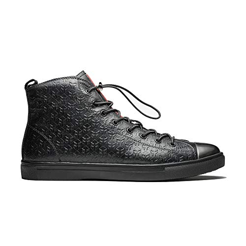 OPP Men's Casual High Top Sneaker Leather Training Shoes (9.5 D(M) US, Black)
