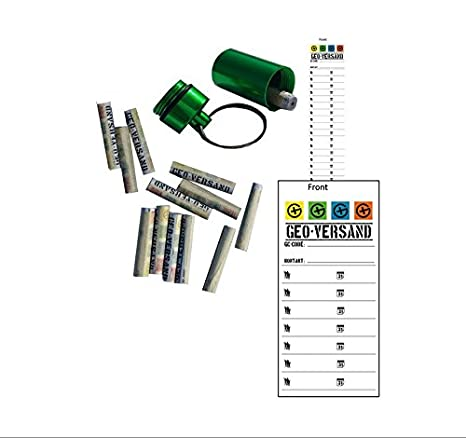 geo-versand Geo Shipping 5/x Magnetic Nano Silver Retractable 10/Log Strips and Hide Geocaching