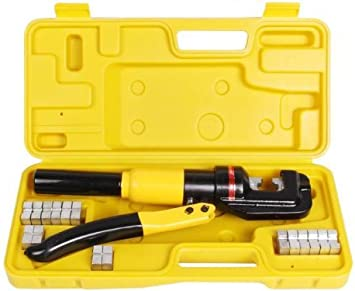 10 Ton Hydraulic Wire Cable Lug Terminal Crimpers Crimping Tool 9 Dies YQK-70