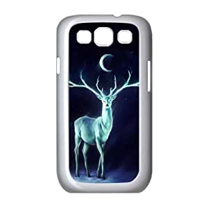 Stag Painting Samsung Galaxy S3 Cases, Case for Samsung Galaxy S3 Mini for Women Young Okaycosama - White