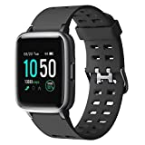 Smart Watch for Android iOS Phone 2019 Version IP68 Waterproof,YAMAY Fitness Tracker Watch with Pedometer Heart Rate Monitor Sleep Tracker,Smartwatch Compatible with iPhone Samsung for Men Women Kids
