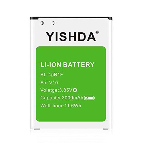 LG V10 Battery | YISHDA 3000mAh Replacement LG BL-45B1F Battery for LG V10 H901 H900 VS990 H960A LS992 | Li-ion LG V10 Spare Battery [18 Month Warranty]