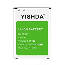 YISHDA LG V10 Battery, 3000mAh Replacement Li-ion Battery for LG V10 BL-45B1F H901 H900 VS990 H960A LS992 | LG V10 Spare Battery - Green [18 Month Warranty]